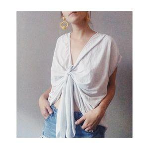 Zara Tie Up Shirt White